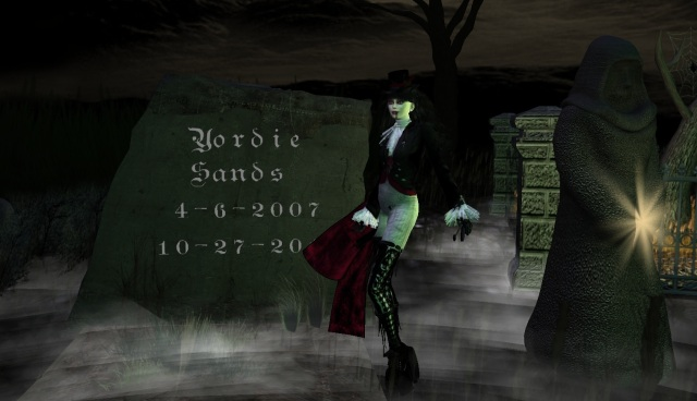 Yordie Sands Dancing on Her Grave in Second Life 2012