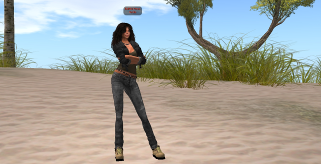 Yordie Sands Ready for Burning Life with BURN2 Press tag - Second Life 2012