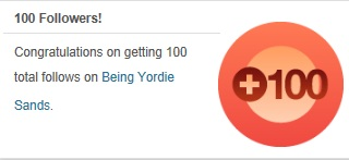 Being Yordie Sands 100 Followers 2012
