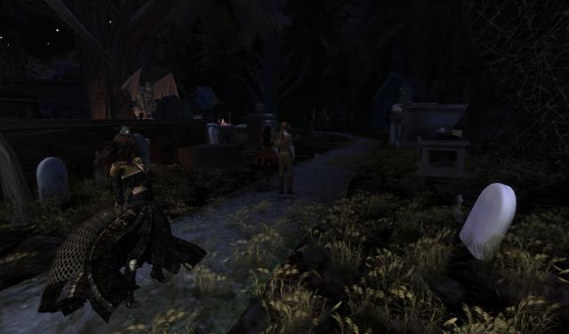 Yordie & Pearl @ Castle Graveyard - Calas Galadhon - Second Life 2012.002