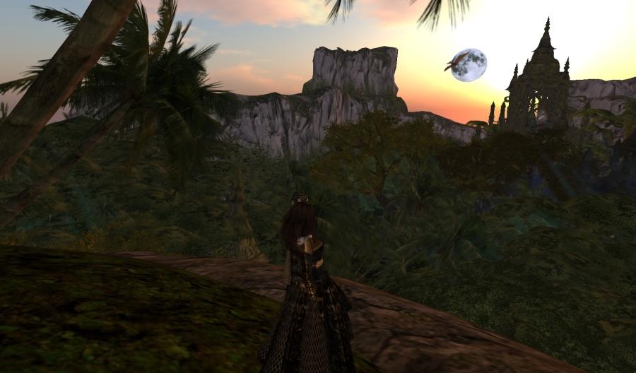 Yordie & Pearl @ Castle Graveyard - Calas Galadhon - Second Life 2012.113