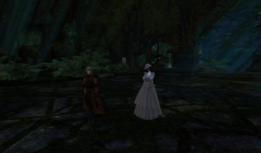 Yordie & Pearl @ Castle Graveyard - Calas Galadhon - Second Life 2012.121