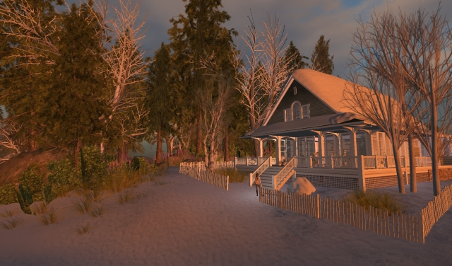Yordie Sands Home - Winter in Second Life New England 2012