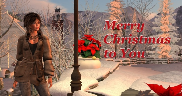 Yordie Sands wishes you a Merry Christmas from Second Life - 2012