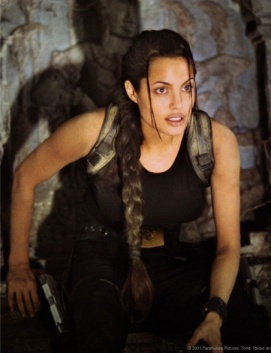 "Woman adventurerAngelina Jolie as""Laura Croft, Tomb Raider""(Paramount Pictures)"