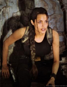 "Woman adventurerAngelina Jolie as""Laura Croft, Tomb Raider""(Paramount Pictures)"
