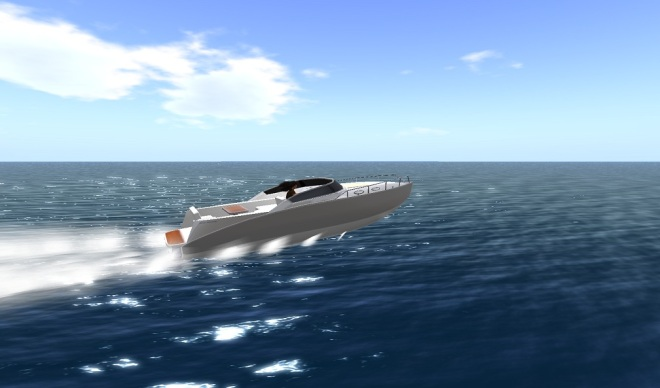Racing Across 50 Sea Regions - Second Life 2013