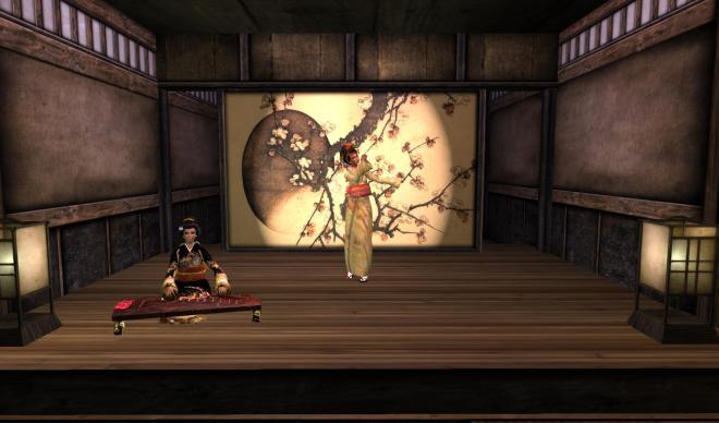 Rehearsing for Geisha Show